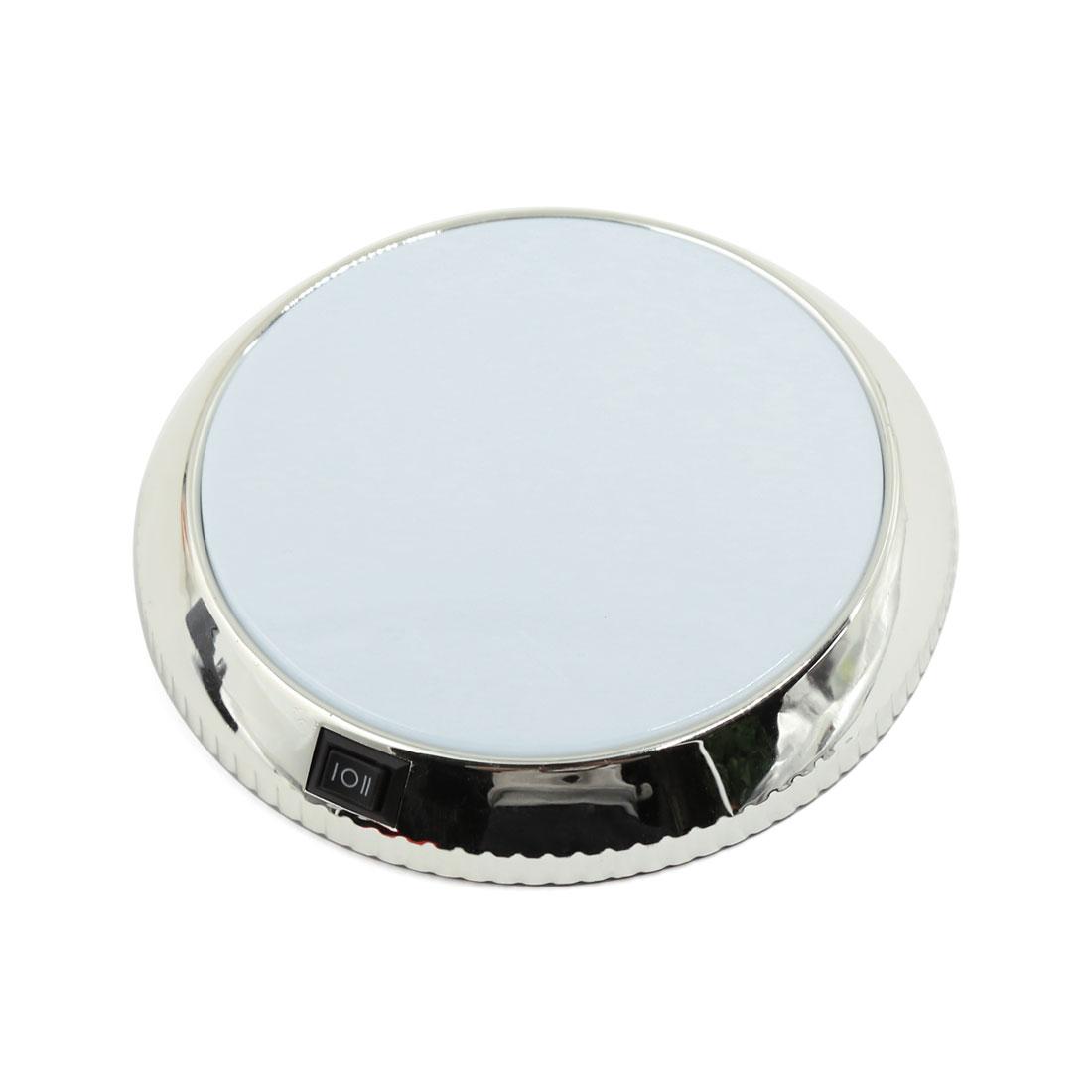"Chrome White Car Interior Light Auto Roof Dome Celling Lamp Bulb 5"" Diameter"