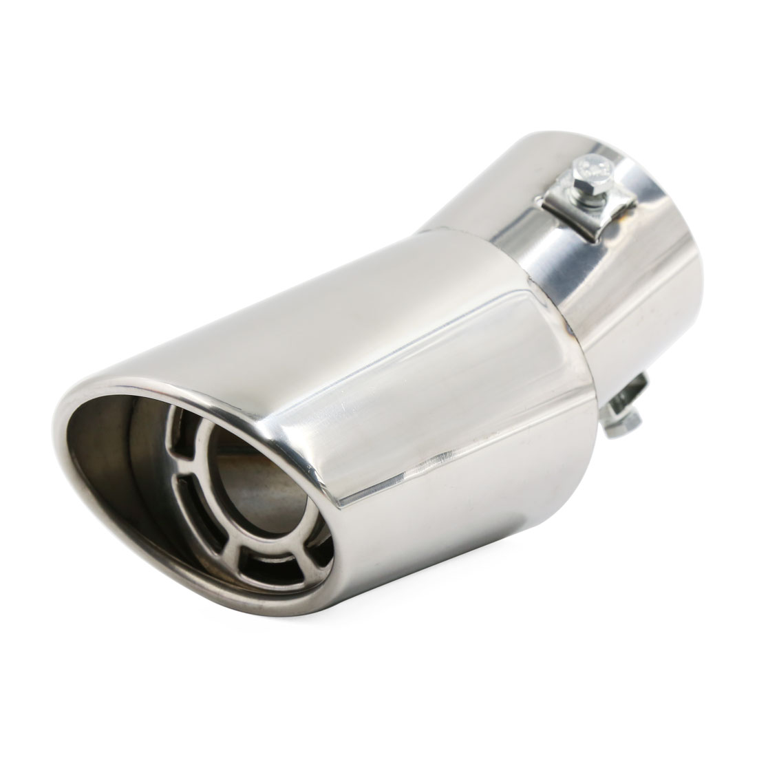 Universal Stainless Steel Curved Car Rear Exhaust Muffler Tail Pipe Trim Tip