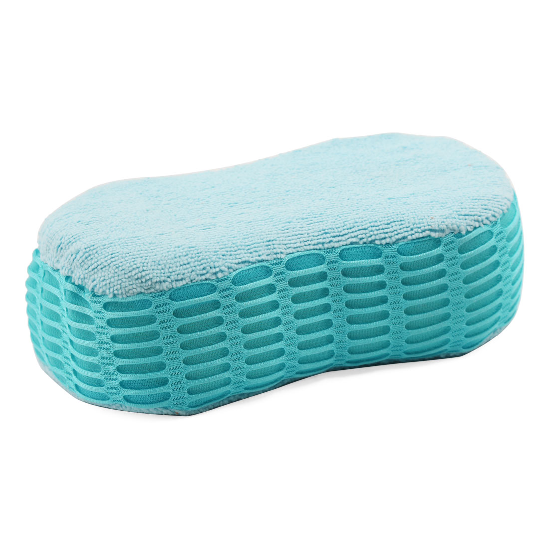 Blue Car Washing Brush Microfiber Sponge Pad Cleaning Tool 21cm x 11cm x 7cm