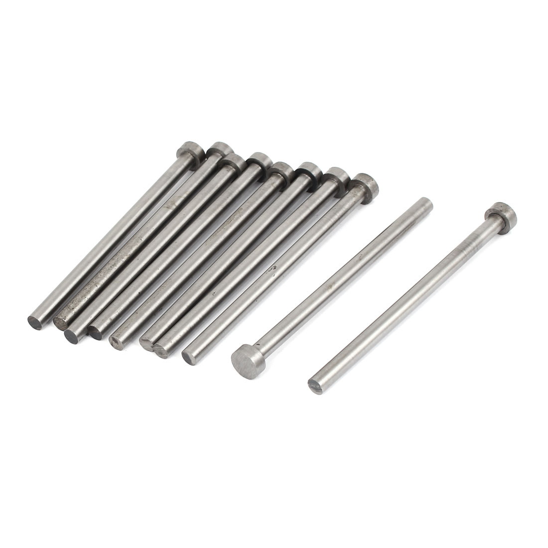 Mould Manufacturing 11mm Tip Straight Ejector Pins Silver Gray 10PCS