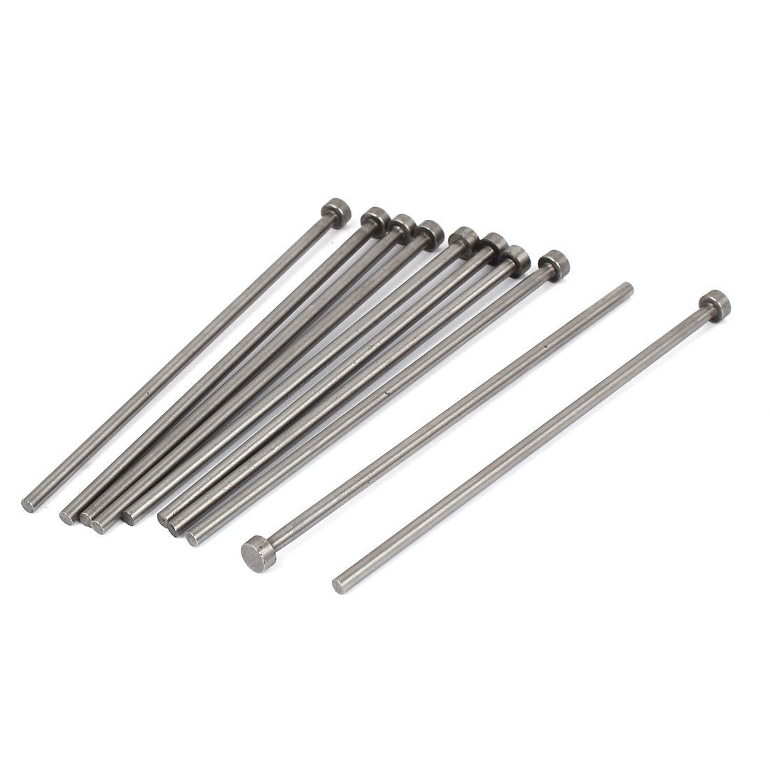 6mm x 105mm Metric Metal Straight Ejector Pins Silver Gray 10pcs