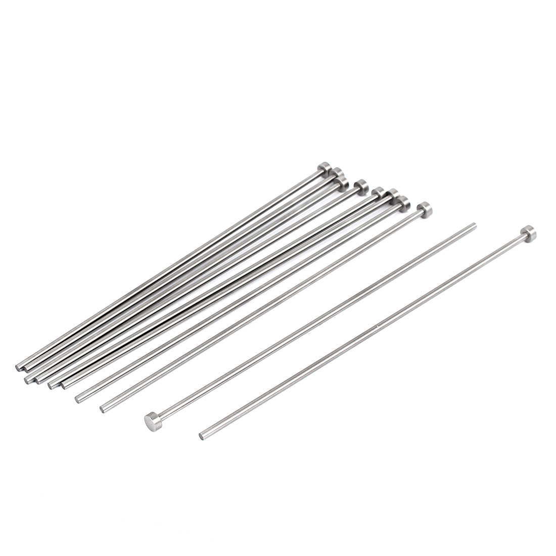 6mm x 157mm Round Tip Straight Ejector Pins Silver Gray 10 PCS