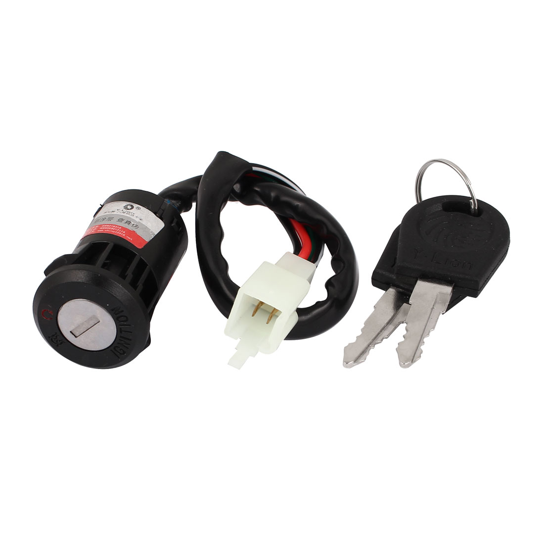 Motorcycle Motorbike Four Wired Ignition Switch Lock w 2 Keys