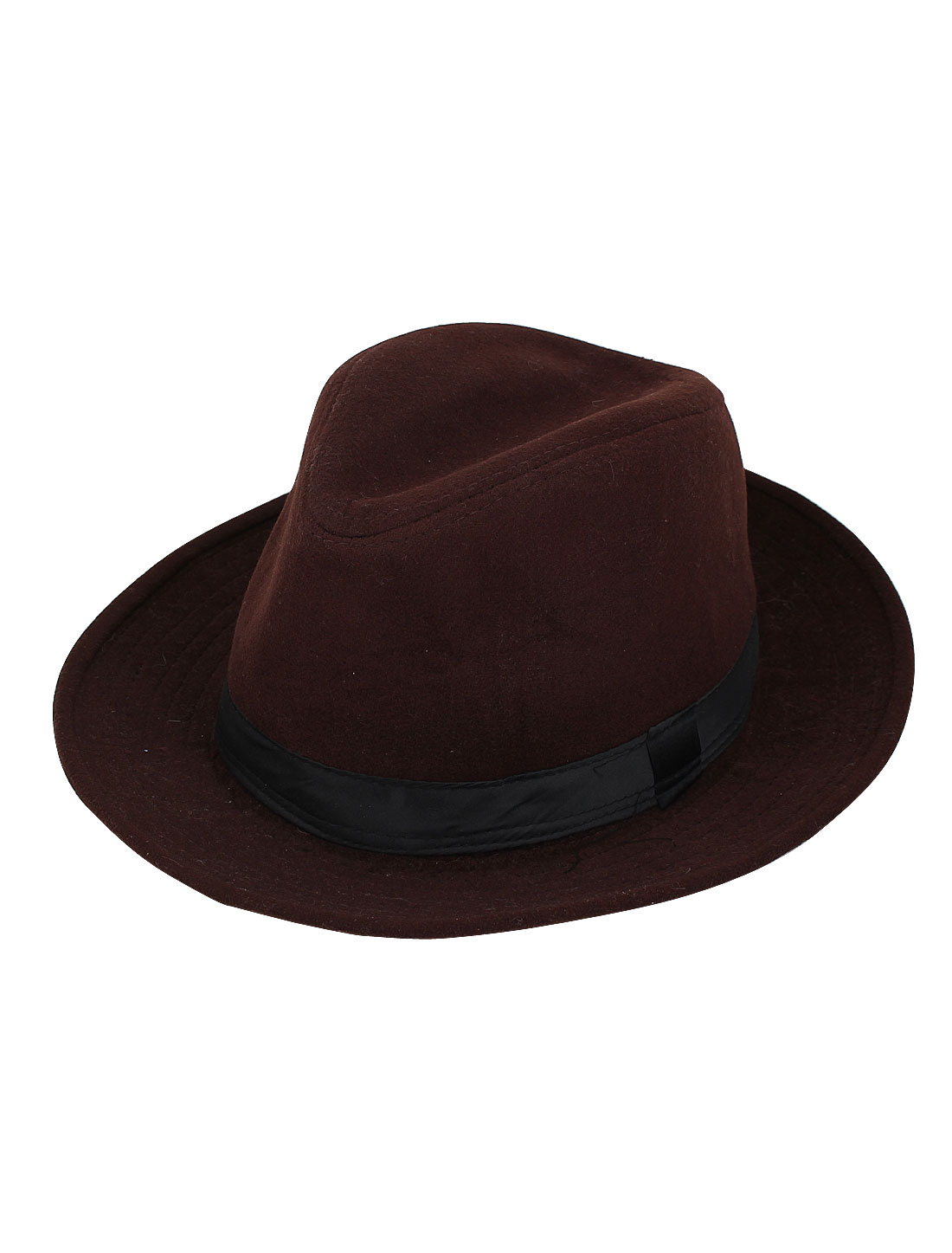 Unisex Cotton Blends Travel Party Fedora Jazz Top Hat Cap Coffee Color