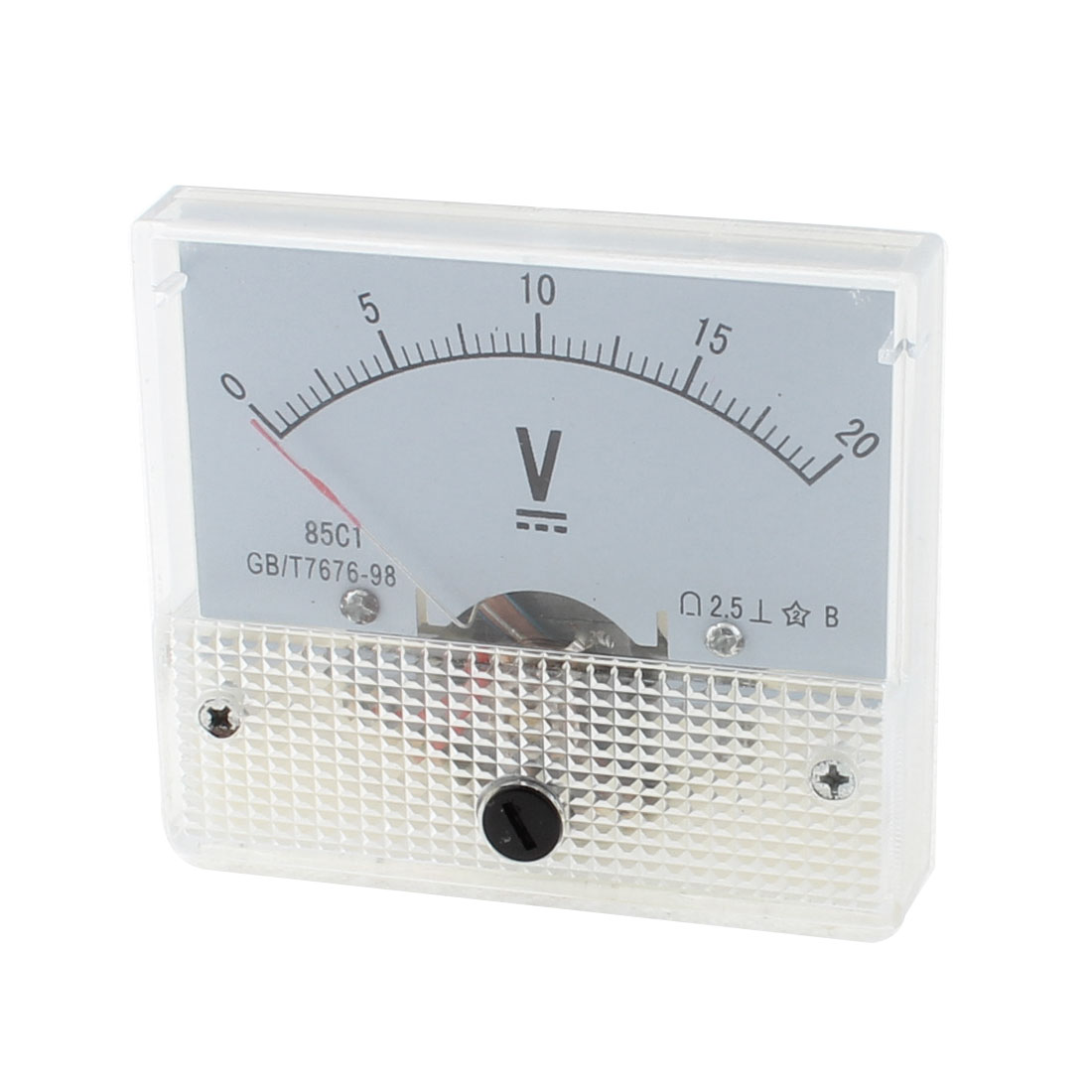 DC 0-20V Range 85L/C1-A/V Voltage Ammeter Analog Pointer Voltmeter Panel Meter Gauge