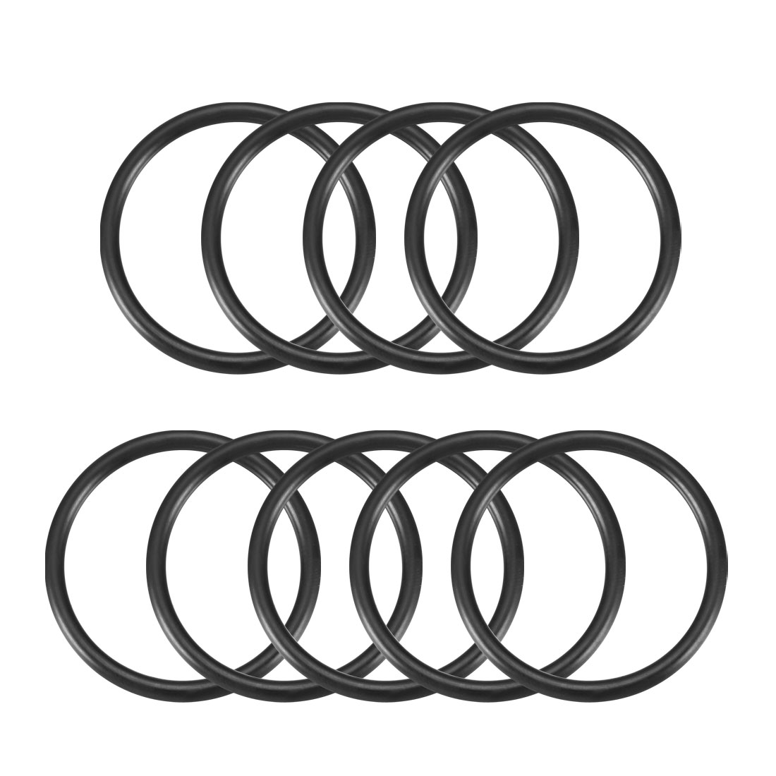 Rubber 39mm x 33mm x 3mm Oil Seal O Rings Gaskets Washers Black 9 Pcs