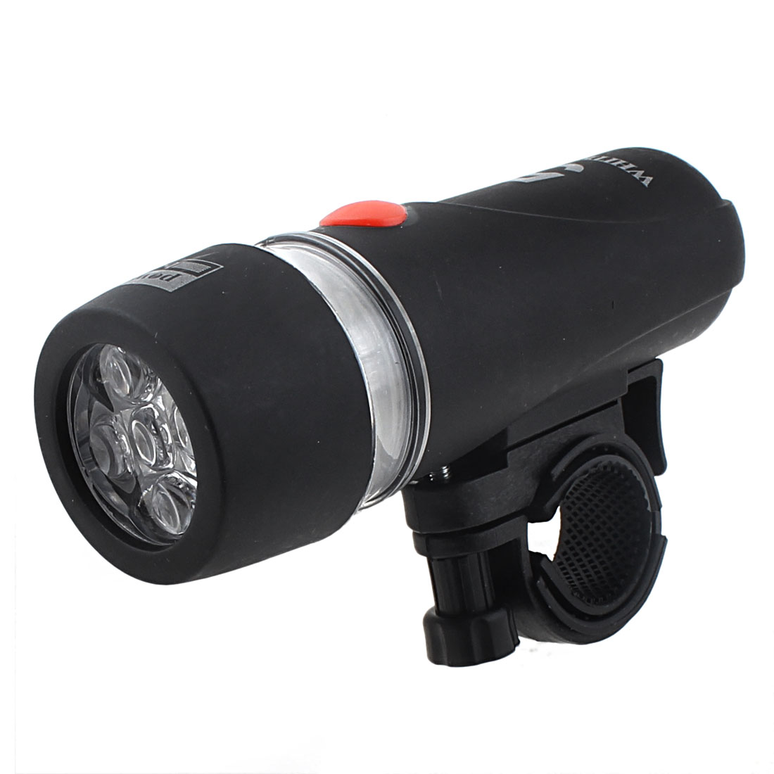 Light 5 White LED Flashlight Torch w Holder Bracket