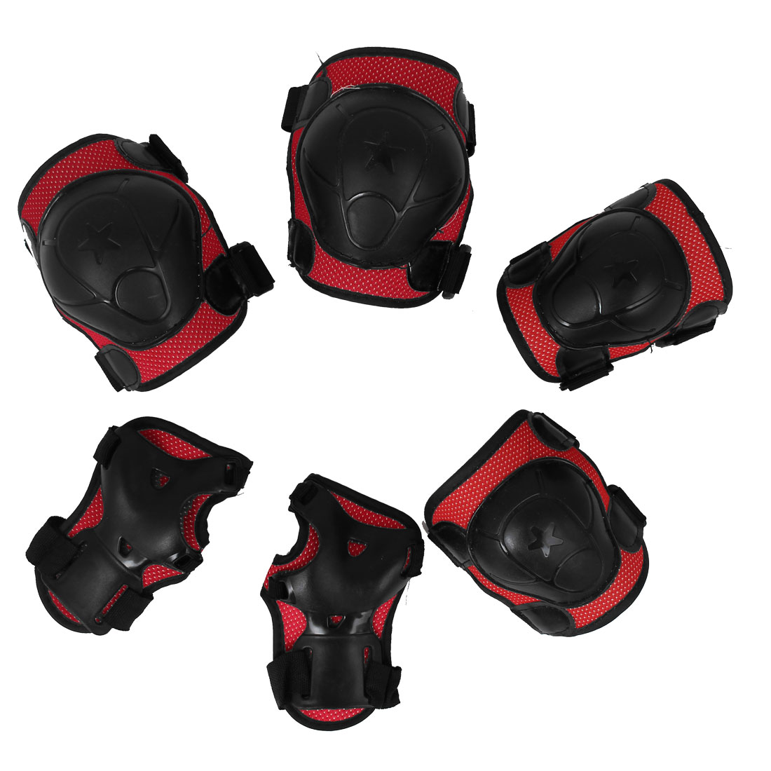 Skating Sports Knee Elbow Wrist Palm Protector Pads Safety Guard Set 6 in 1