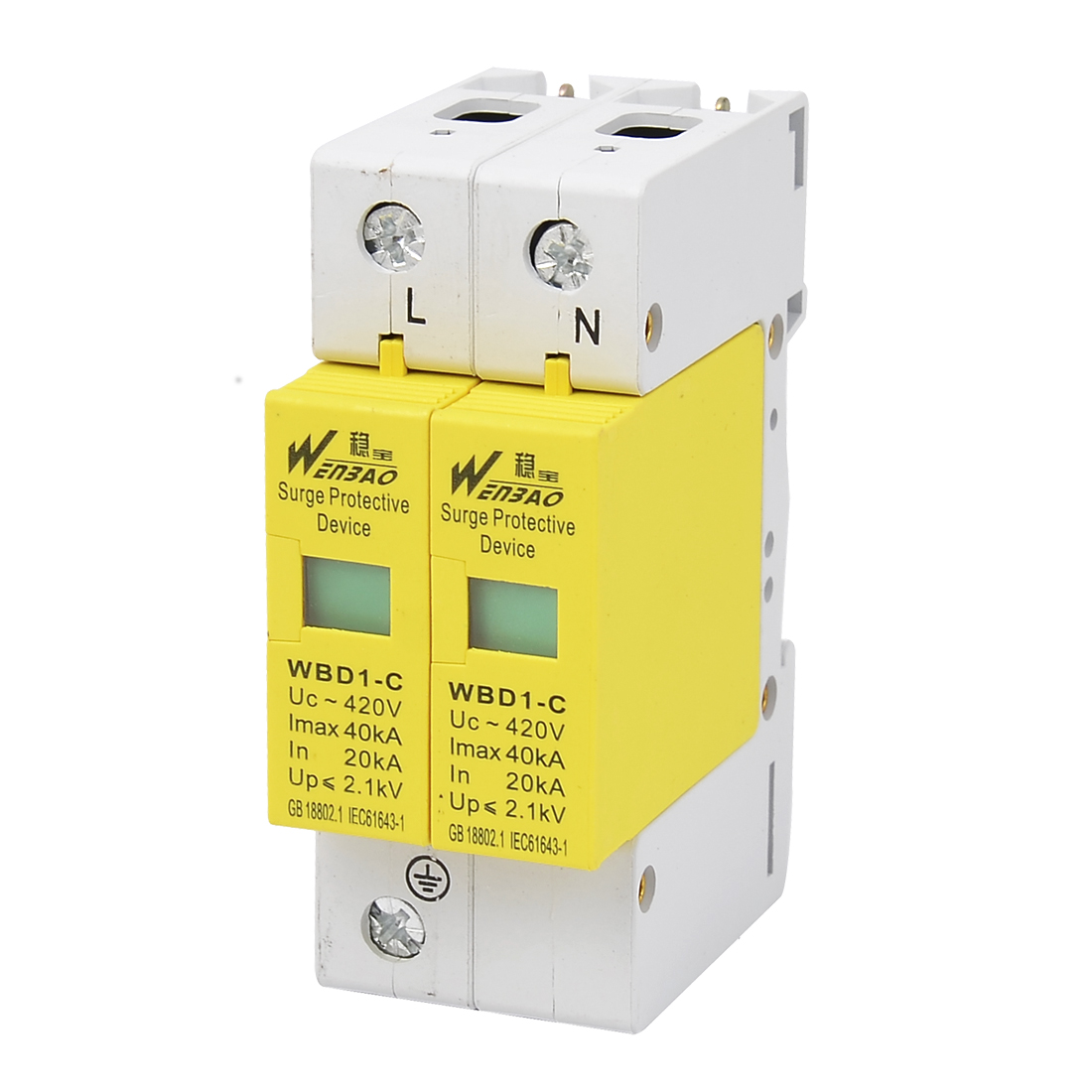 AC 420V 40KA Max. Current 2P Lightning Power Surge Protection Device
