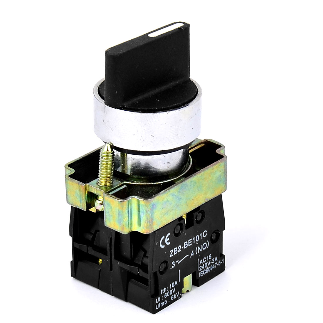 XB2-BD33 AC 600V 10A 6KV 3-Position Latching Rotary Selector Switch