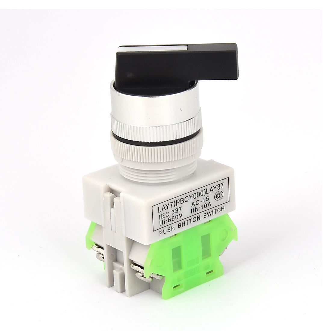 AC 660V 10A 3 Positions 4 Terminals Latching Selector Rotary Switch