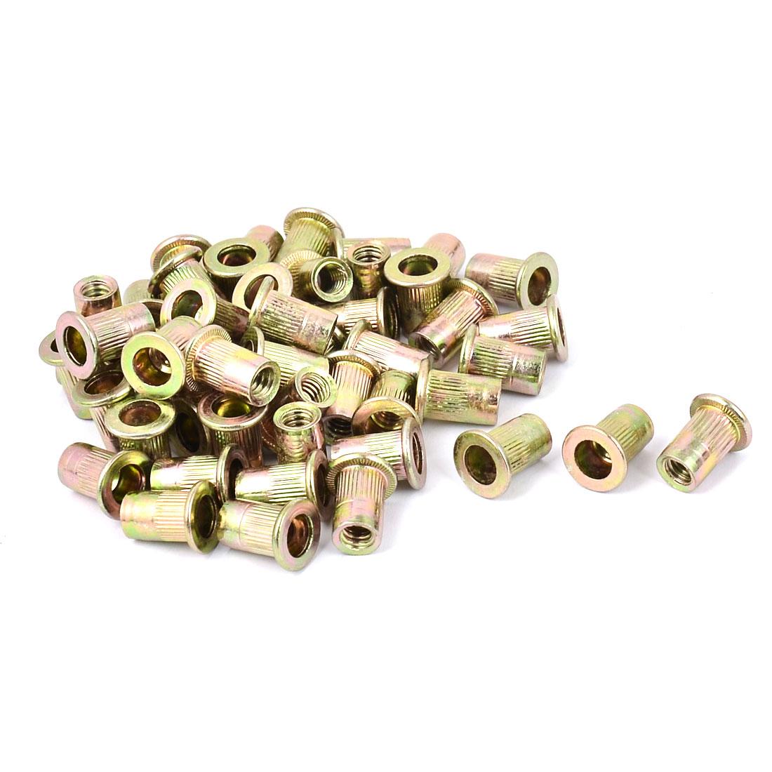 1/4 Inch Thread Dia Metal Rivet Nut Insert Nutsert 50pcs
