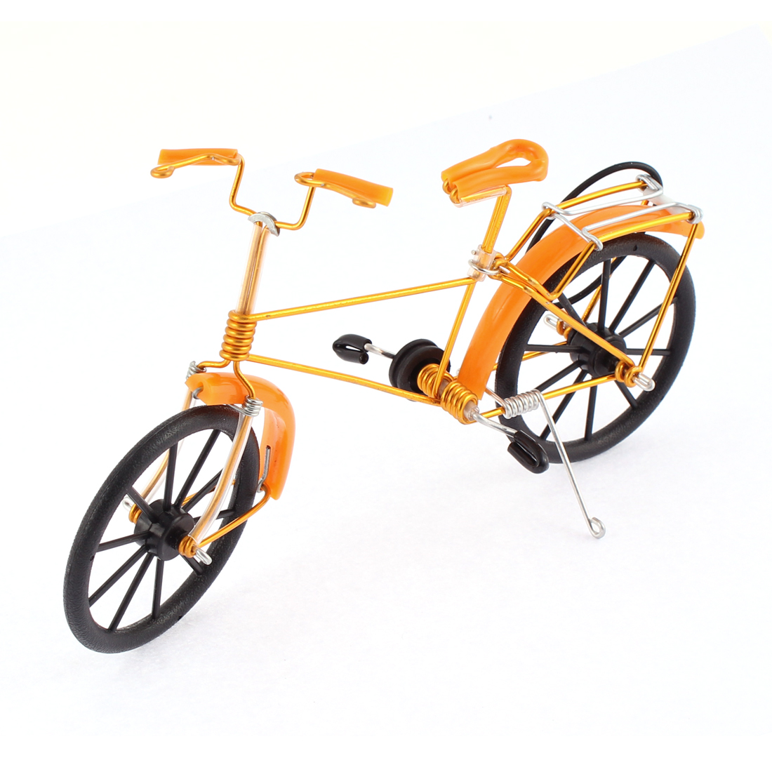 Cycling Collection Handmade Wire Bicycle Bike Model Home Decor Orange