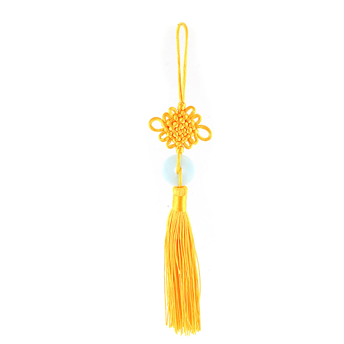 Home Decor Hanging Tassel Pendant Chinese Knot Collection Yellow