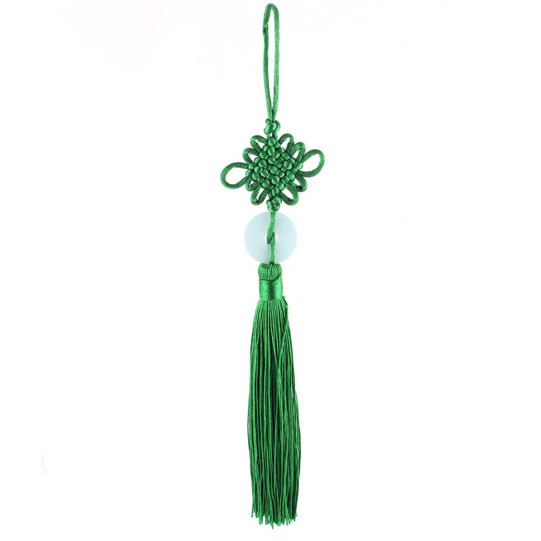 Handmade Luck Chinese Knot Tassel Pendant Home Bedroom Decor Green