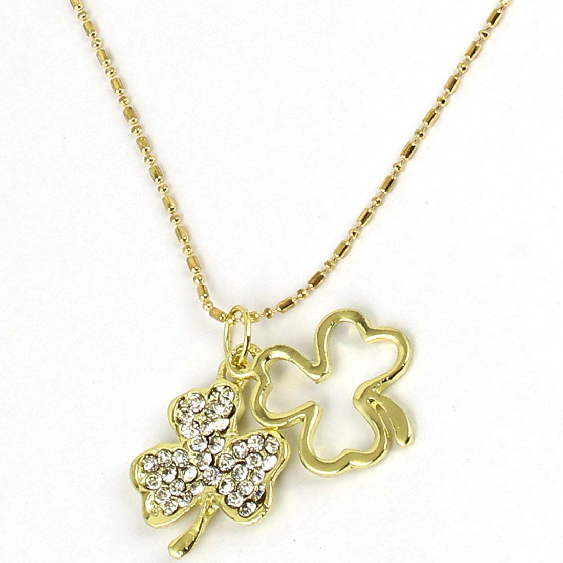 Women Shinning Rhinestone Bead Pendant Necklace Jewelry Gift