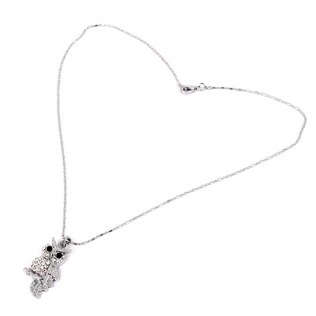 Metal Owl Shape Pendant Lobster Clasp Chain Sweater Necklace Neckwear for Lady