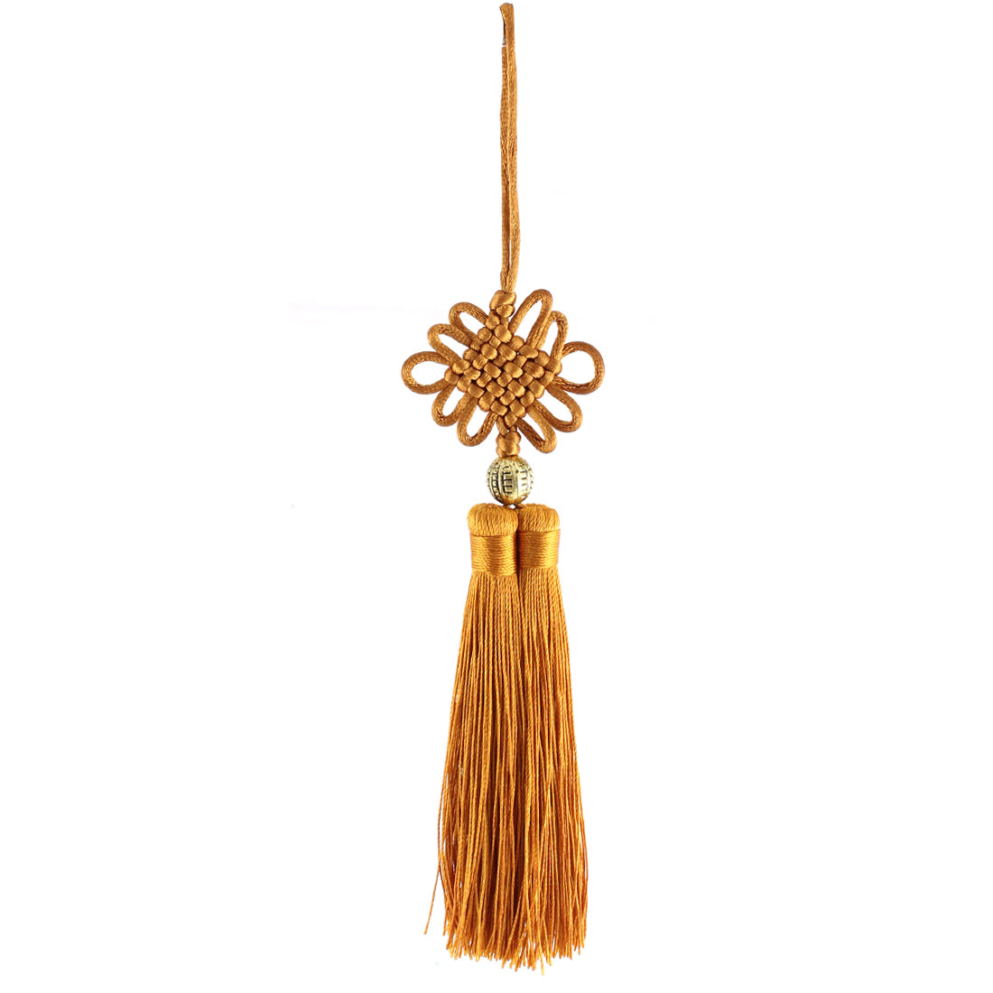 Brown Chinese Knot Pendant Hanging Decor DIY Tassel Handicraft