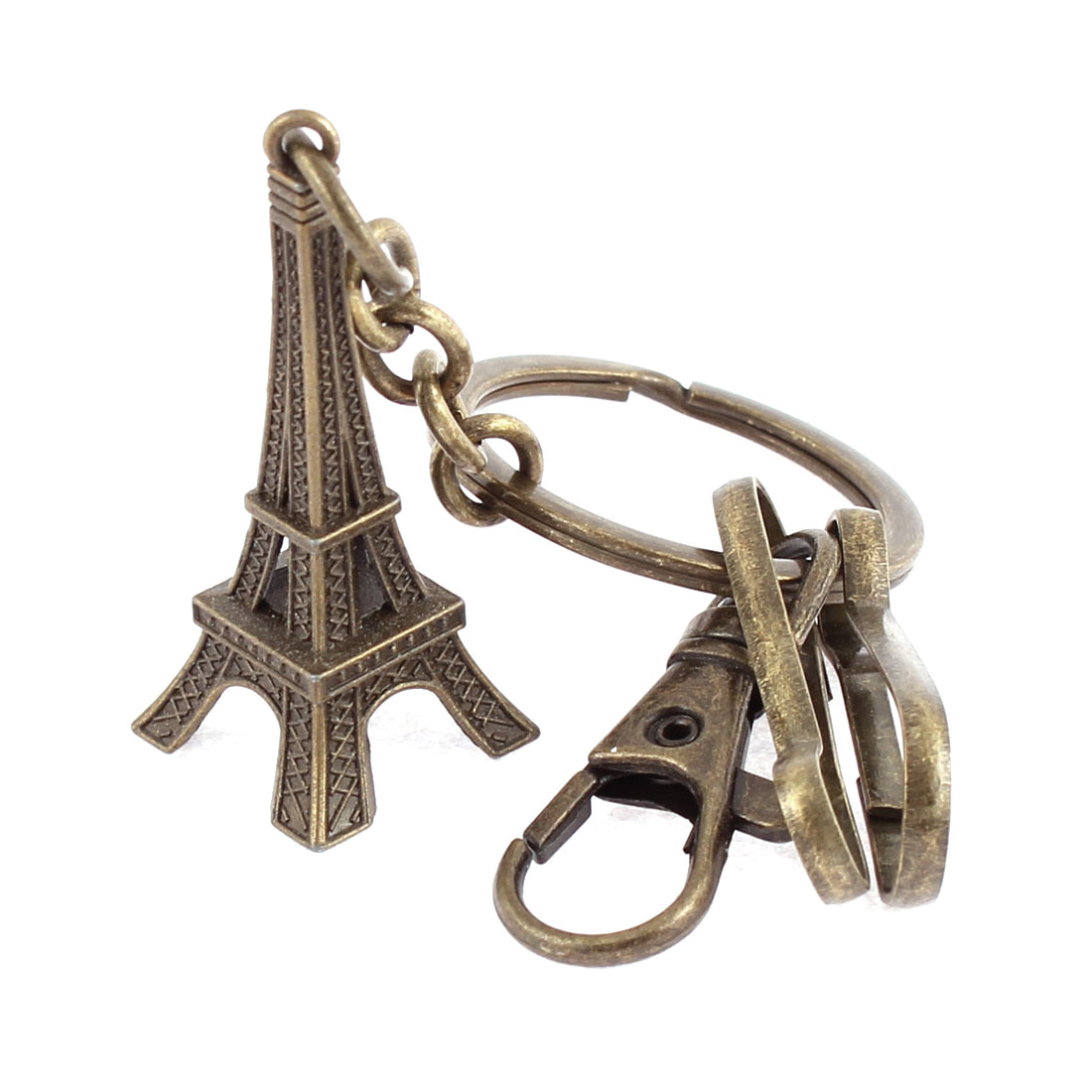 Bronze Tone Swivel Lobster Clasp Clip Round Key Ring Keychain