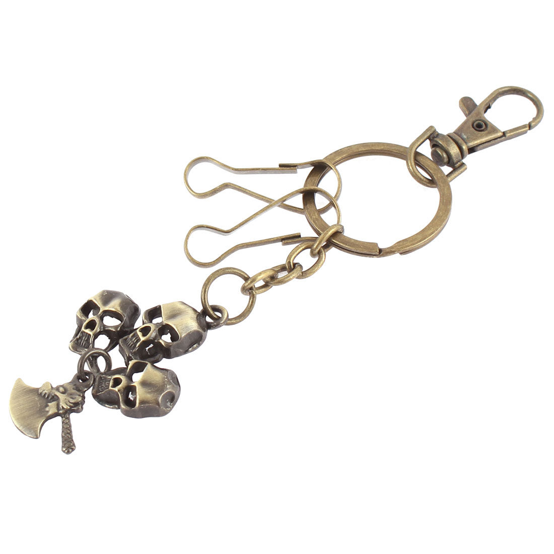 Bronze Tone Snap Lobster Clasp Hook Bag Key Ring Keychain Holder