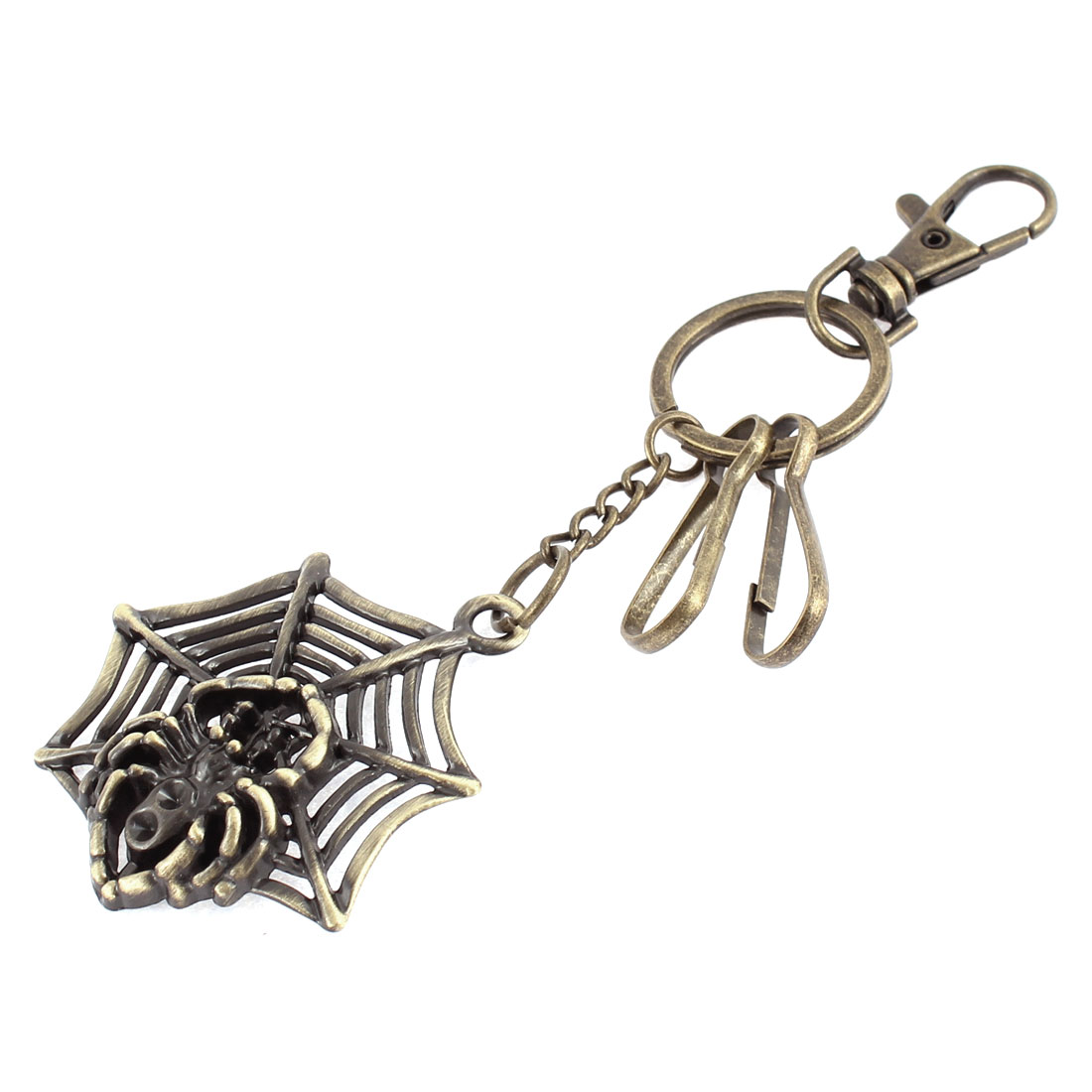 Vintage Style Swivel Lobster Clasp Metal Round Key Ring Keychain Clip