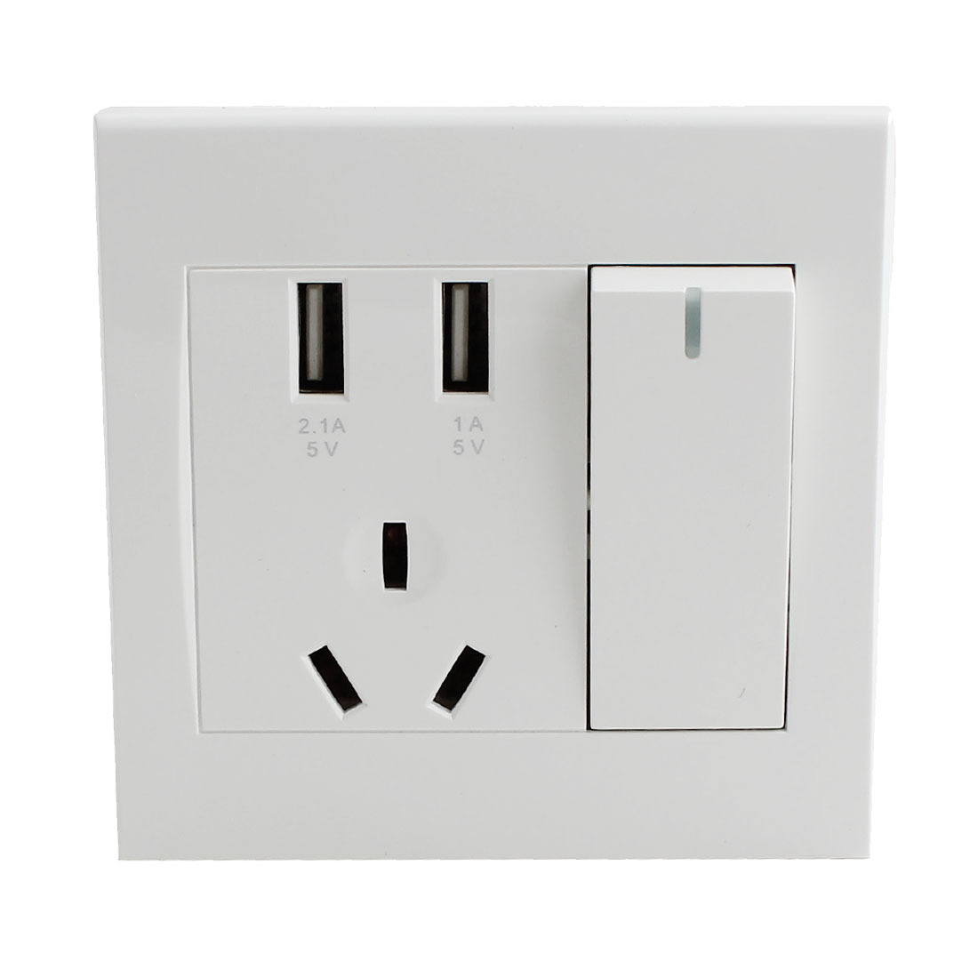 250V AU Outlet 2 USB Ports Wall Socket Charger AC Power Outlet Plate Panel White