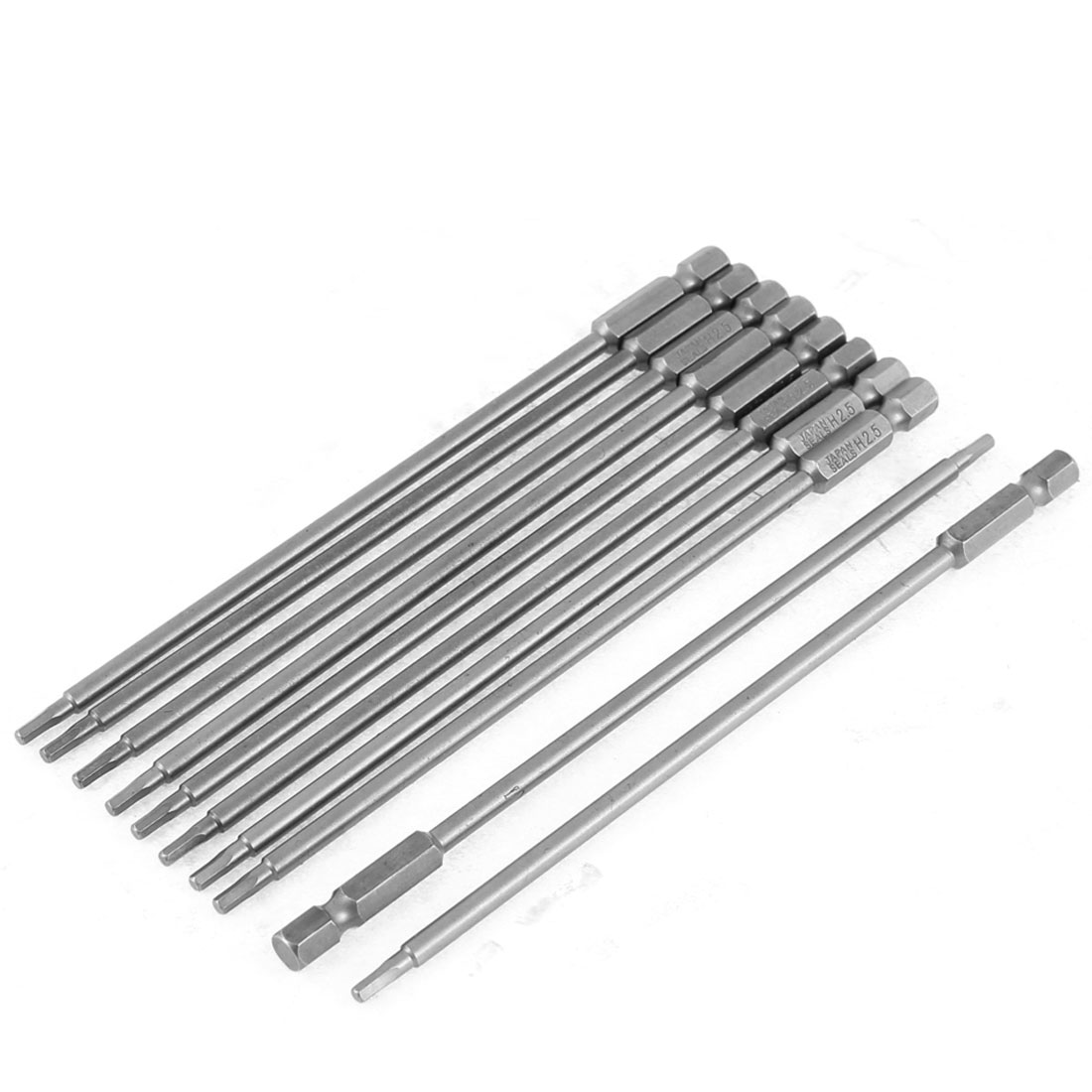 "10pcs 1/4"" Hex Shank 150mm Long 2.5mm Tip Hexagon Screwdriver Bits Hand Tool"