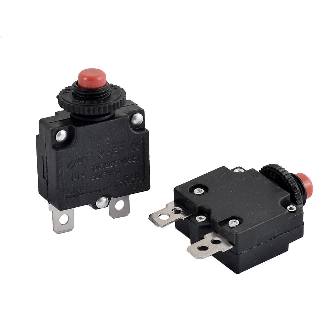 Air Compressor 10A Circuit Breaker Current Overload Protector Switch 2pcs