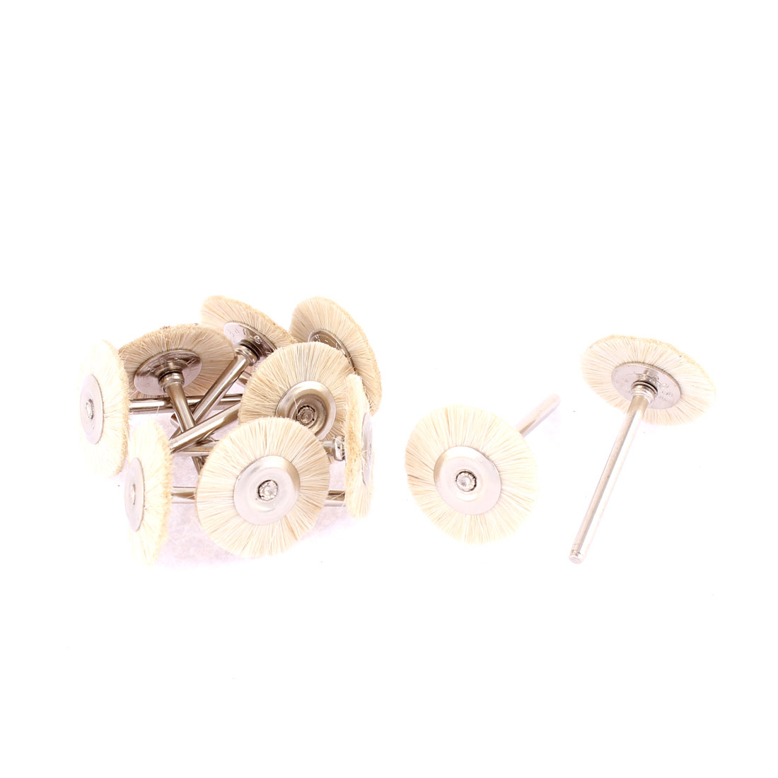 Rotary Tool 25mm Dia Wool Polishing Buffing Wheel Grinding Brushes 10pcs