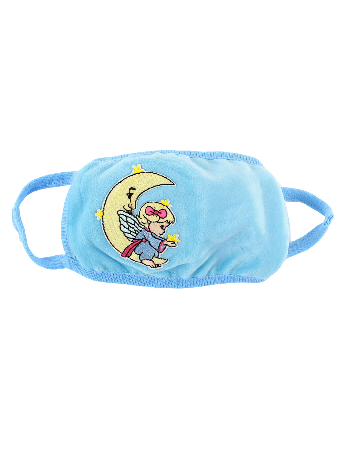 Moon Girl Pattern Stretchy Strap Face Nose Mouth Mask Cover Respirator Blue