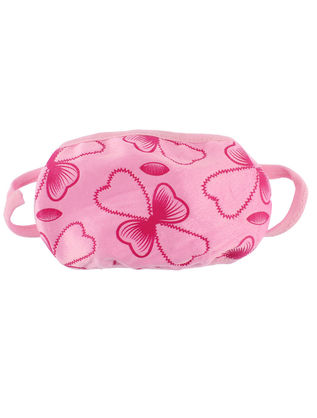 Woman Bowknot Pattern Face Nose Mouth Mask Cover Respirator Protector Pink