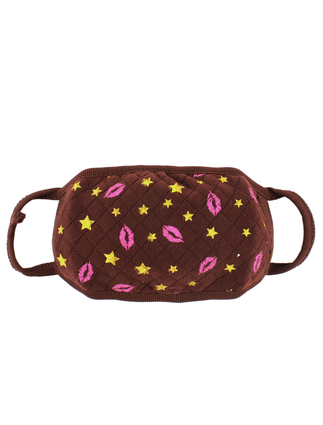 Lip Stars Pattern Dustproof Face Nose Mouth Mask Cover Respirator Protector Dark Brown