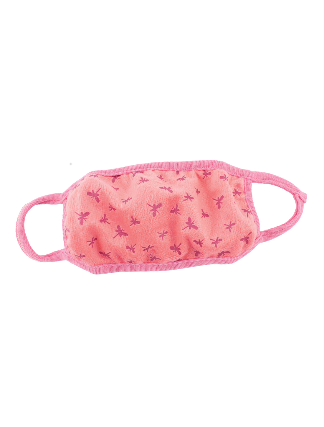 Woman Butterfly Pattern Mouth Mask Cover Respirator Protector Muffle Coral Pink