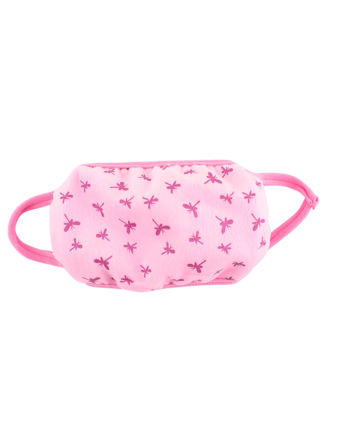 Woman Butterfly Pattern Mouth Mask Cover Respirator Protector Muffle Pink