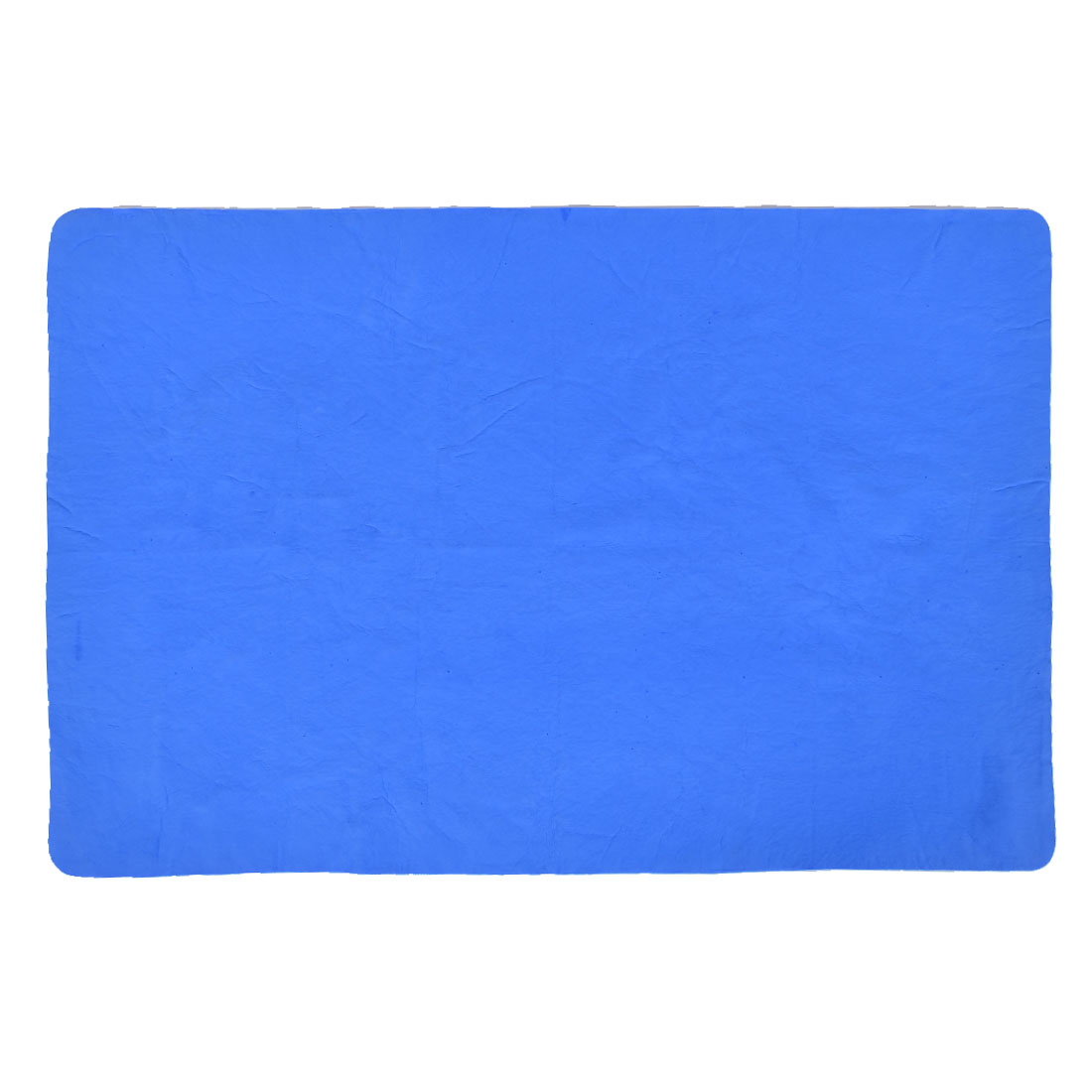 Home Synthetic Chamois Multi-function Hand Face Towel Washcloth Blue