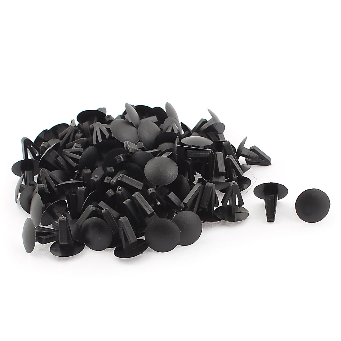 Auto Door Fender Fastener Trim Panel Retainer Clips Plastic Rivets Black 100pcs