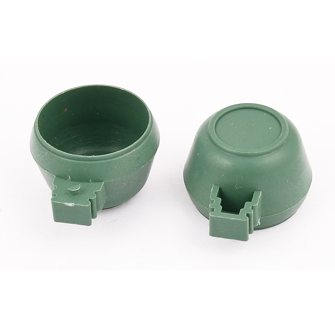 Hamster Parrot Birds Cage Water Food Feeder Cup Bowl 36mm x 30mm Green 2PCS