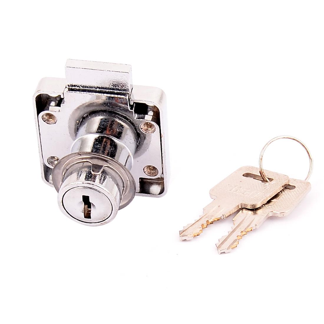 Cabinet Cupboard Door Drawer Tubular Cylinder Head Rim Security Lock Locking w 2 Keys