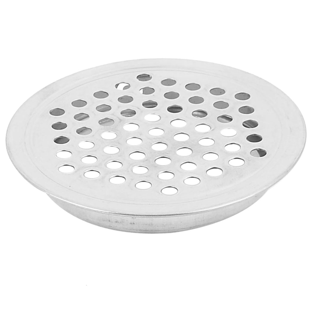 65mm Dia Silver Tone Metal Perforated Mesh Hole Shoes Cabinet Air Vent Louver Cover