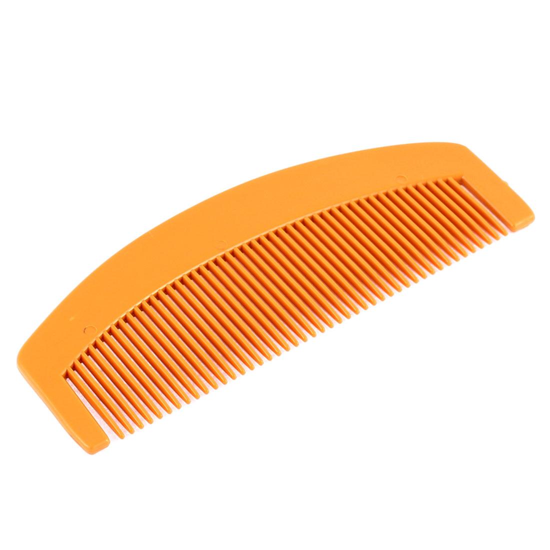Unisex Plastic Narrow Toothed Crescent Shape Portable Comb Dark Khaki