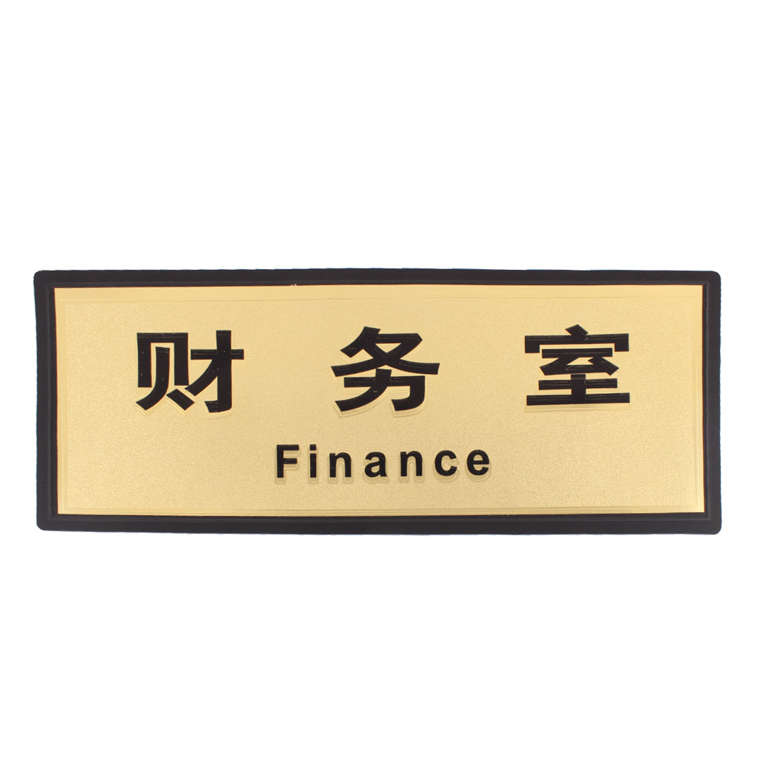 Finance Office Accounting Room Plastic Rectangle Bold Headlines Sticker Instruction Board