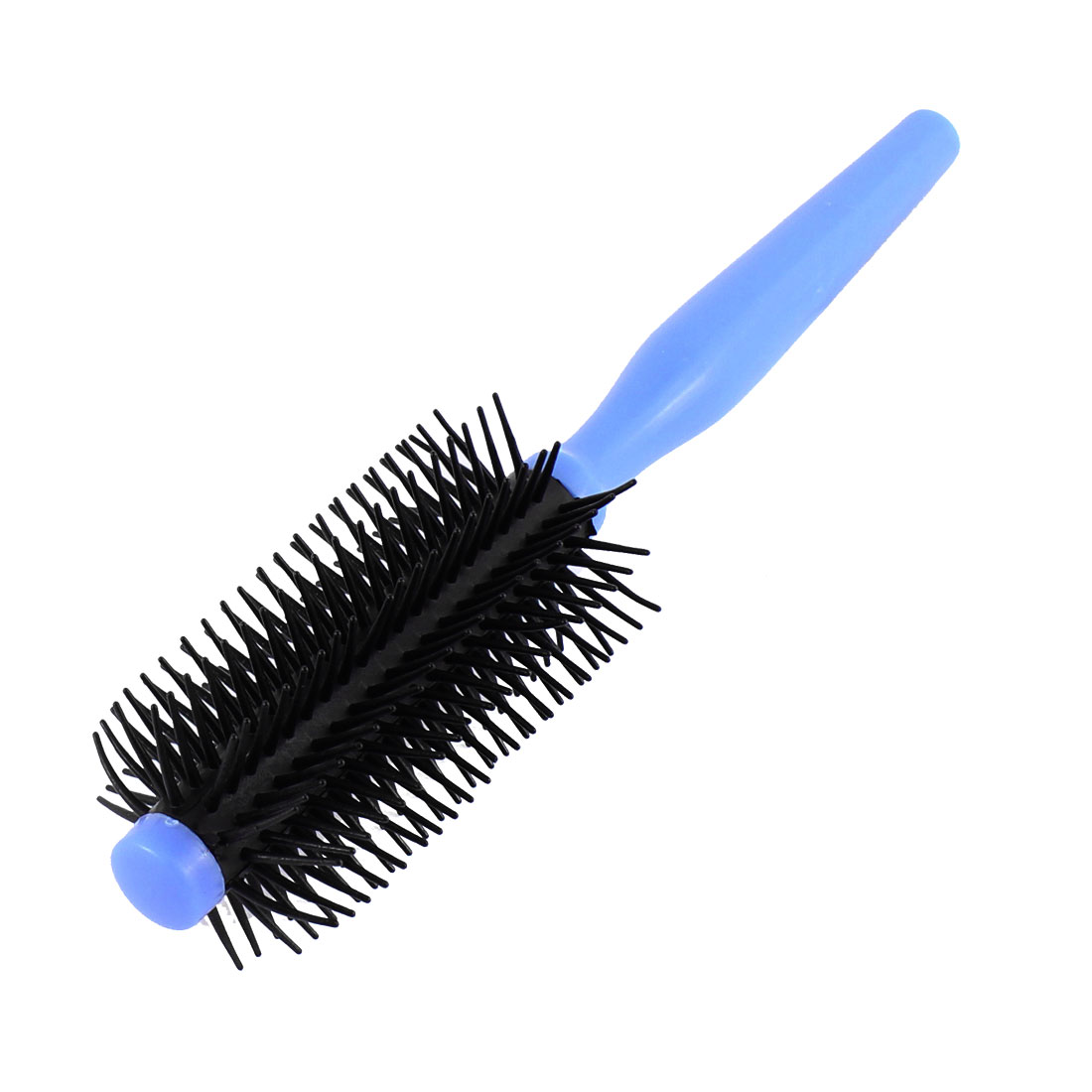Lady Plastic Cylindrical Head Flexible Toothed Curly Hair Comb Blue