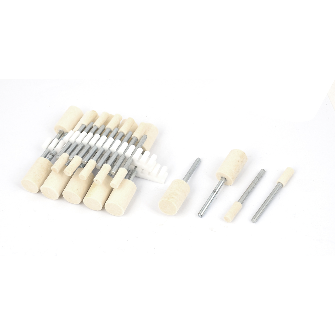4mm/10mm Cylindrical Head 3mm Shank Mounted Points Polishing Buffing Tool 24 in 1