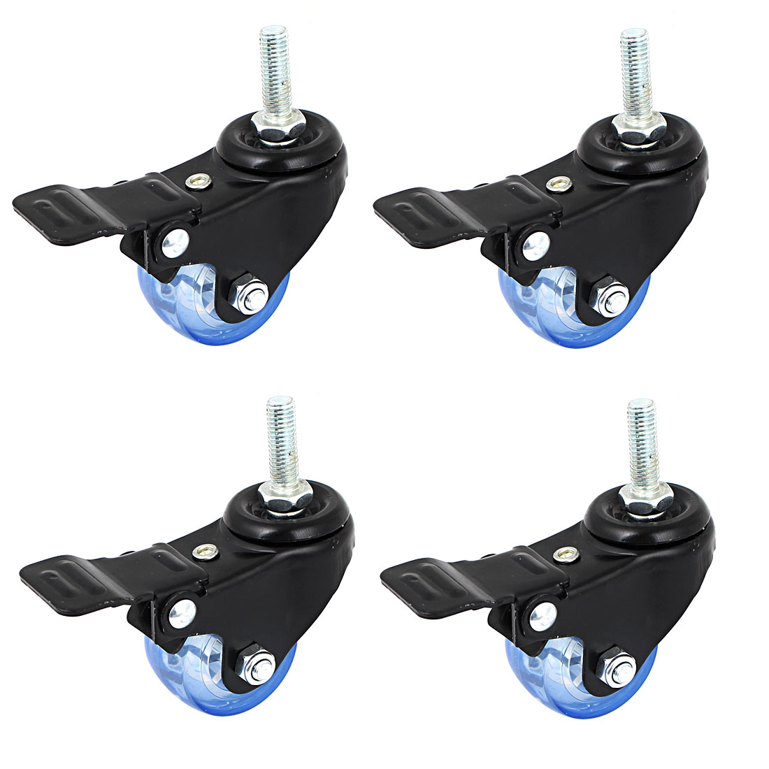40mm Dia Swivel Bolt Hole Castor Wheels Trolley Furniture Caster 4pcs