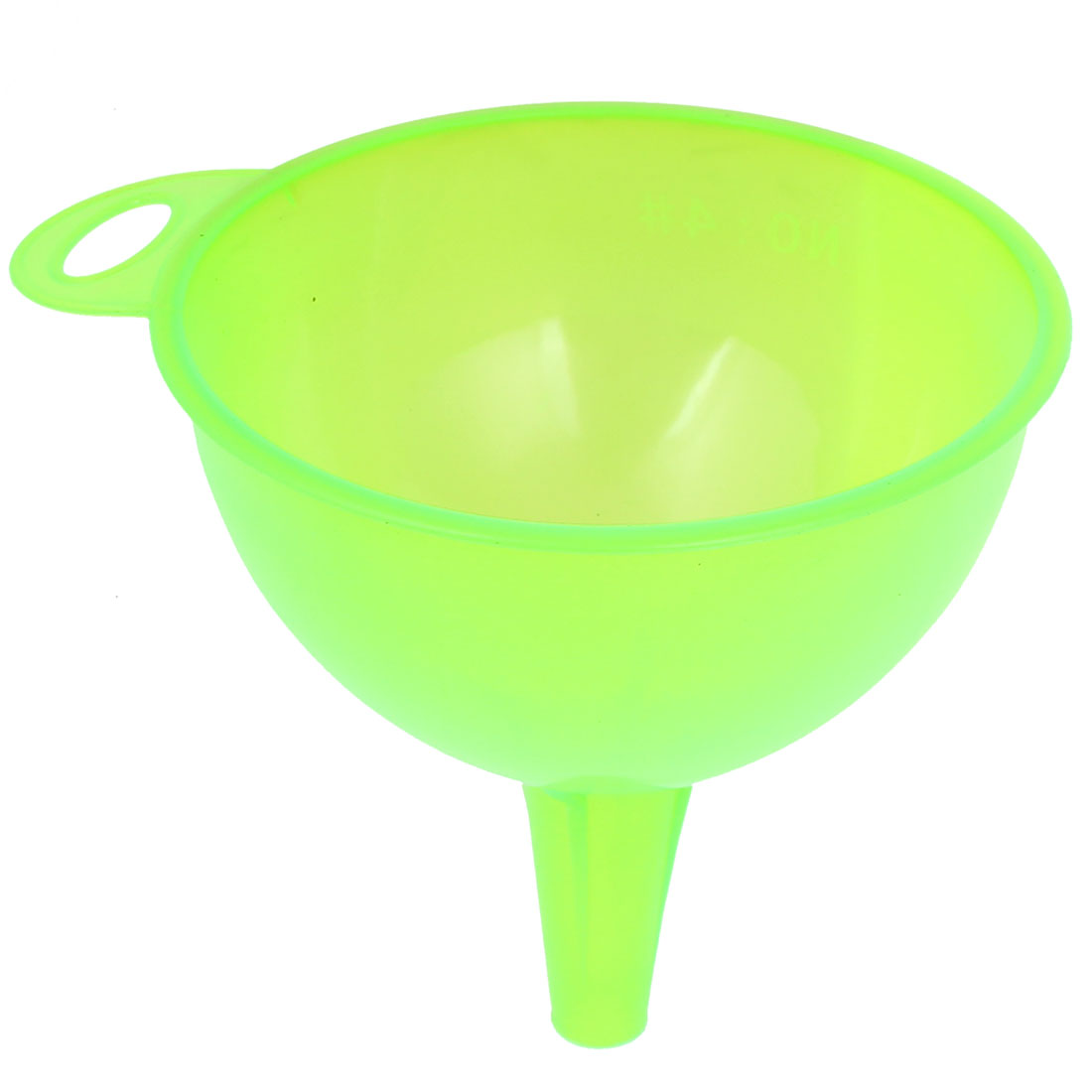 "Plastic Wine Water Filling Filter Funnel 5"" Diameter Clear Green"
