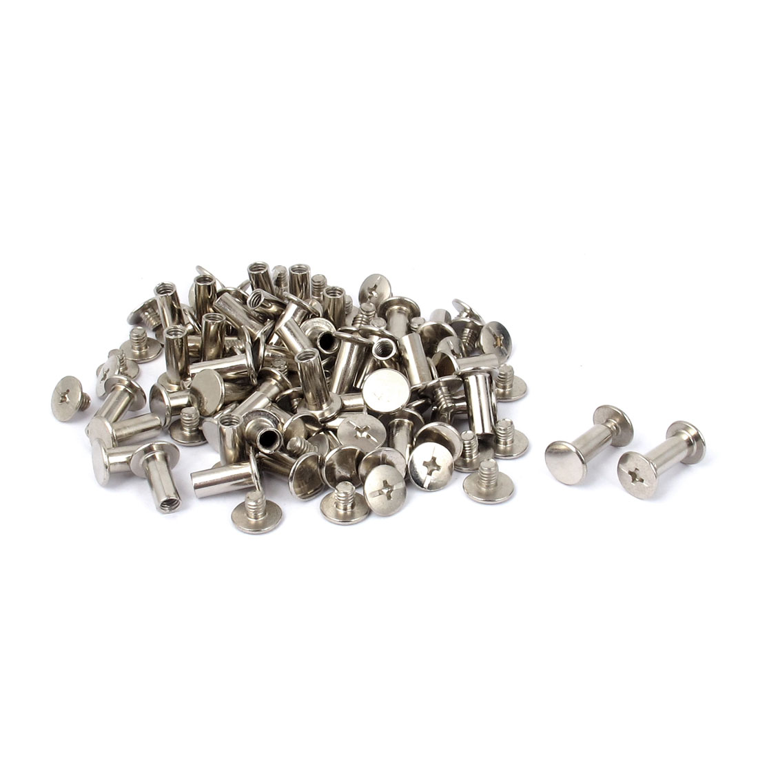 Scrapbooking Album Nickel Plated Binding Screws Posts Docking Screw Rivet 5x12mm 50pcs