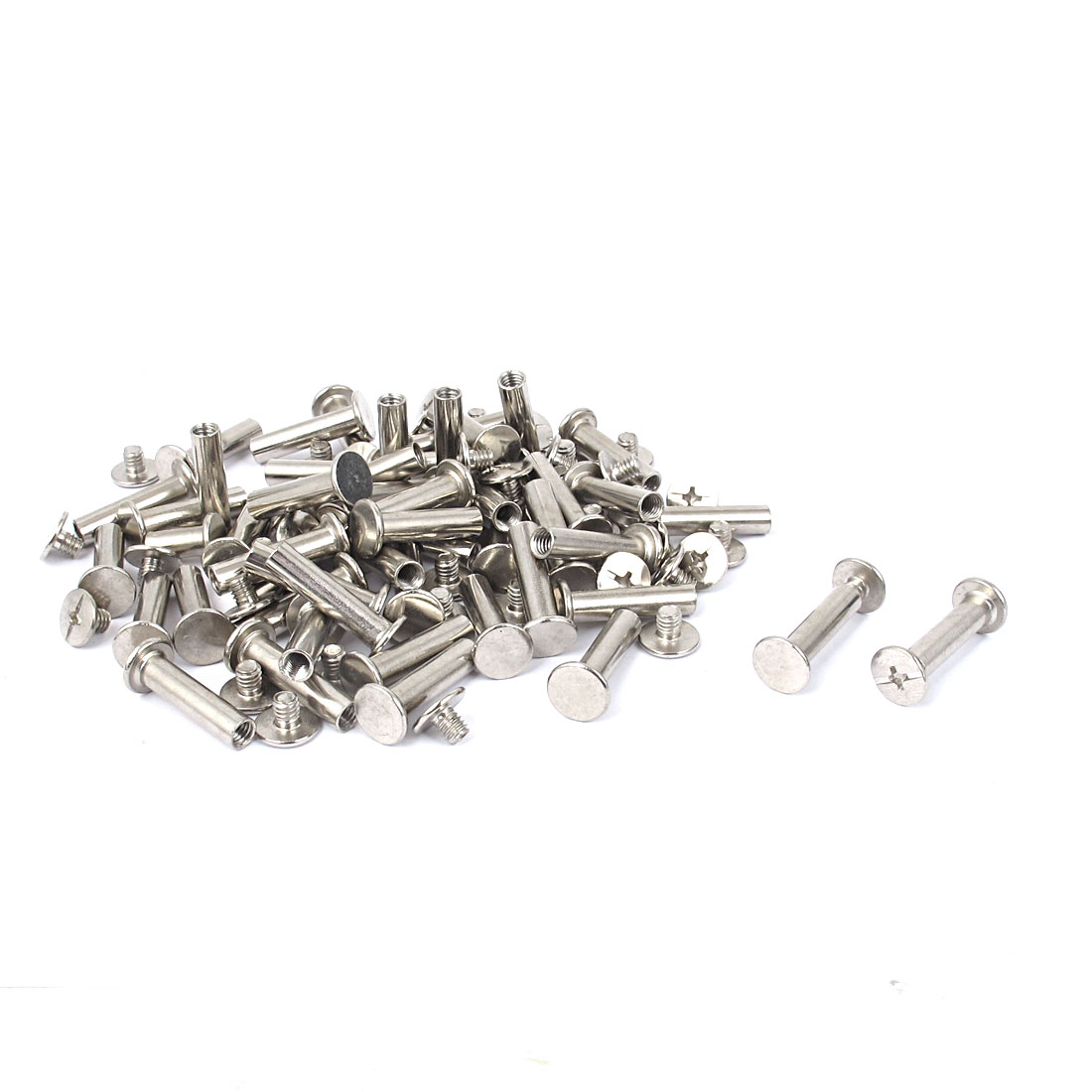 Scrapbooking Album Nickel Plated Binding Screws Posts Docking Screw Rivet 5x20mm 50pcs