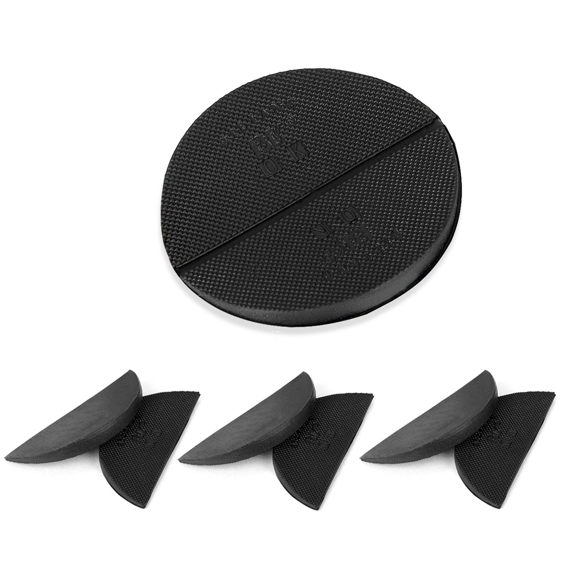 Shoes Boots Sole Heel Repair Pad Guard Plate Tap Protection Black 4 Pairs