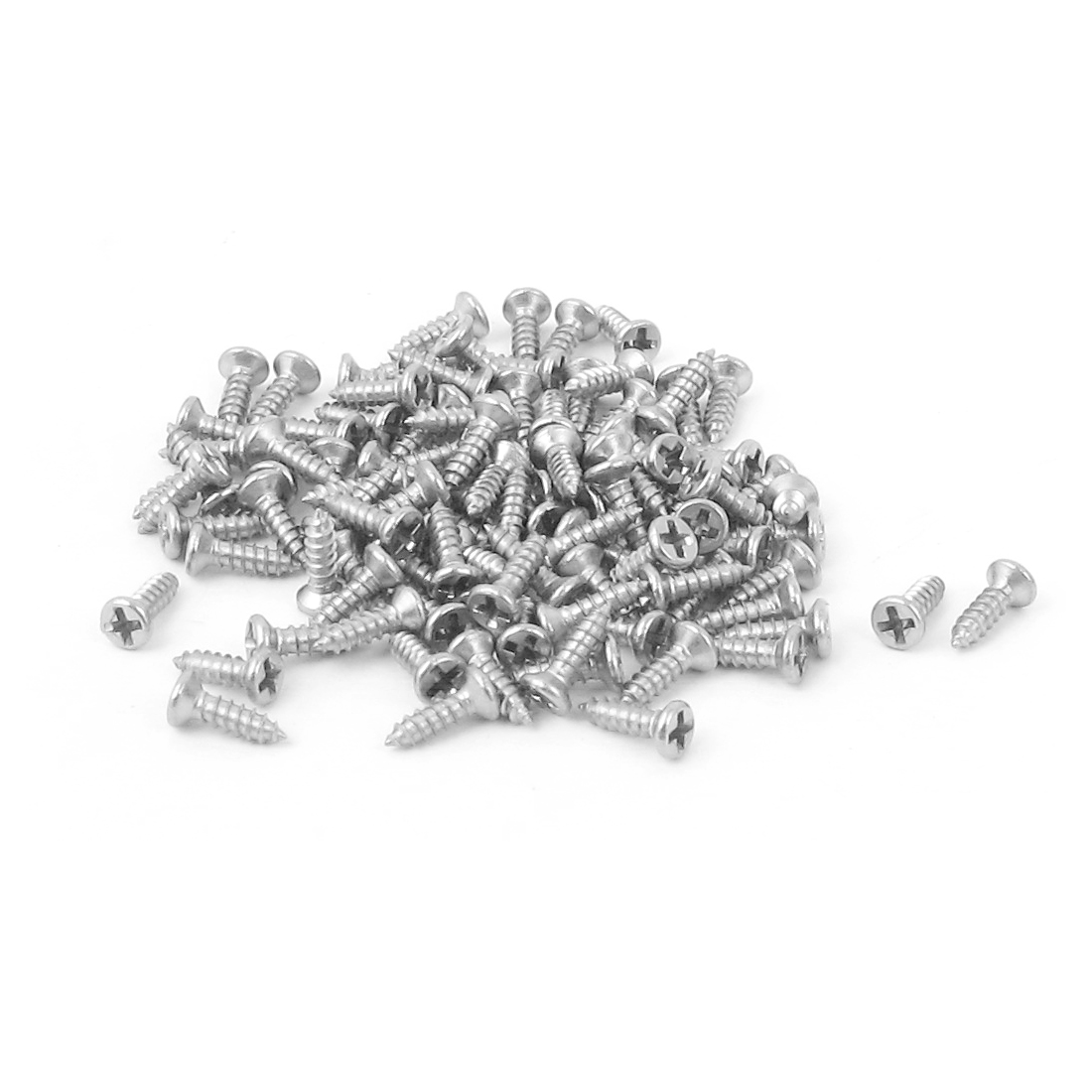 M1.4 x 5mm Phillips Flat Head Self Tapping Screw Fasteners 100 Pcs
