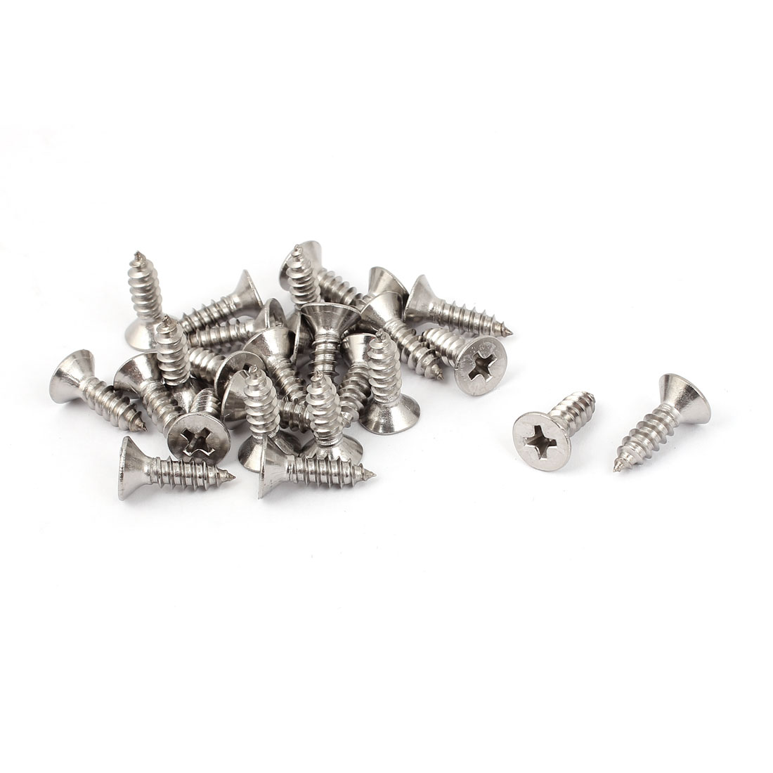 M4.8 x 16mm Cross Head Countersunk Self Tapping Screw 25 Pcs
